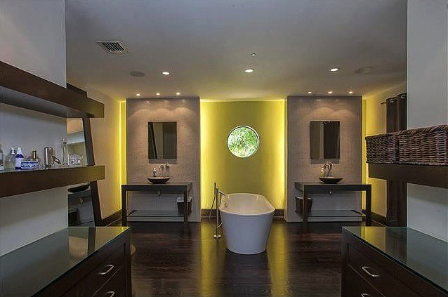 This sleek bath feels more like a luxury spa than a master bathroom.  Source: Coldwell Banker Real Estate
