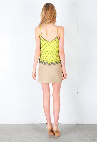 Leslie Beaded Cami in Citron - by Rory Beca