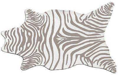 Zebra Shaped Rug- Grey