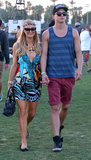 Paris Hilton held boyfriend River Viiperi's hand.