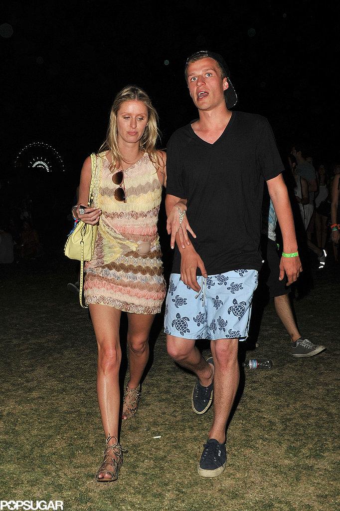 Nicky Hilton walked the grounds.