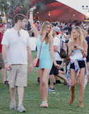 Whitney Port let loose on the field after telling us it took her just one hour to pack for the festival!