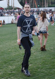 Jared Leto strolled the grounds.