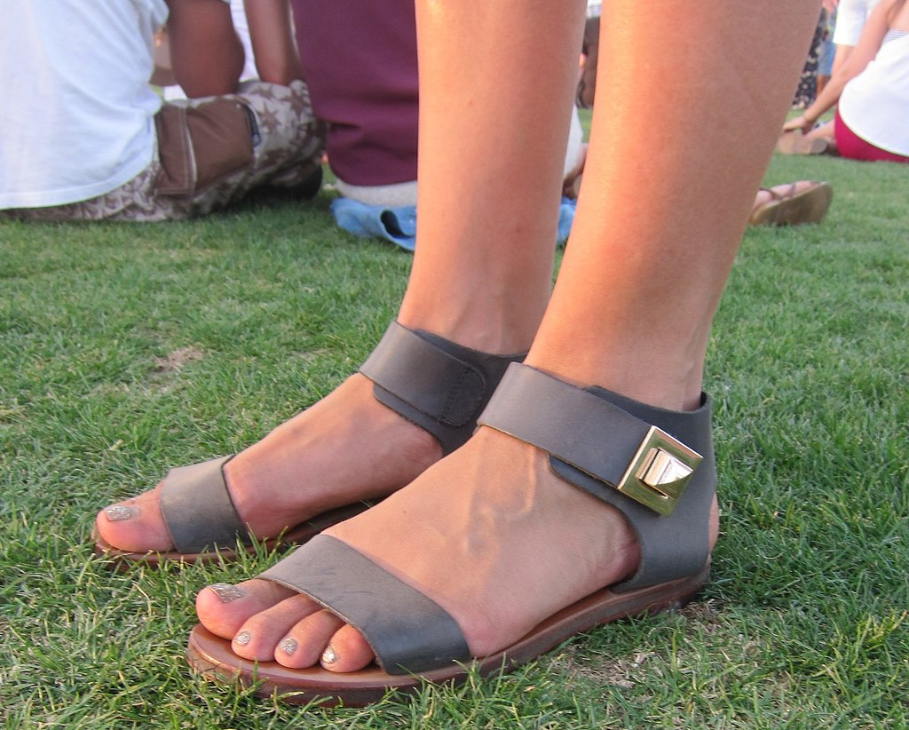This ankle-strap sandal is a good mix of high fashion and function.