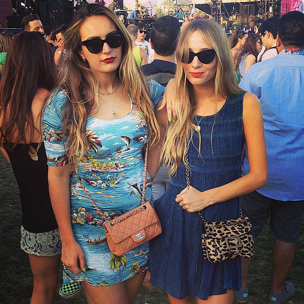 Harley Viera-Newton took in the concert with a friend. Source: Instagram user harleyvnewton
