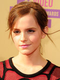 For the 2012 MTV Video Music Awards, Emma paired a delicate headband braid with inky black liner and bubblegum-pink lips.
