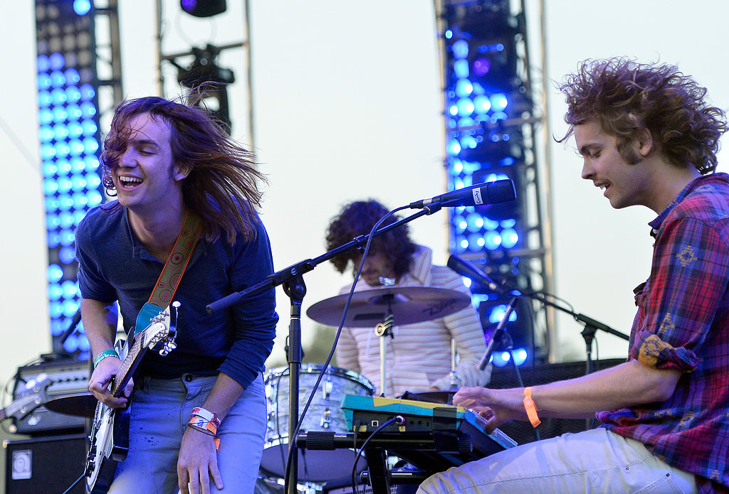 Kevin Parker and Jay Watson of Tame Impala rocked out on the stage.