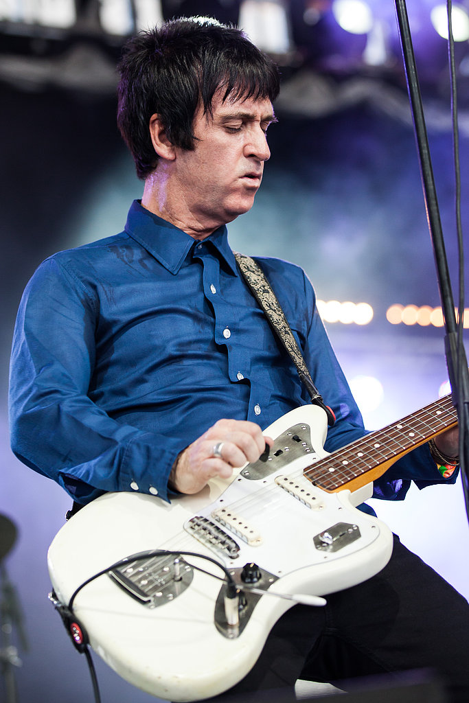 Friday saw Johnny Marr jamming on his guitar.