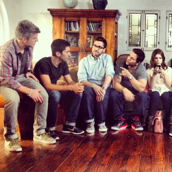 Mark Wahlberg and Anna Kendrick hung out with the men of MTV's Catfish: The TV Show for an MTV Movie Awards skit. Source: Instagram user maxjoseph