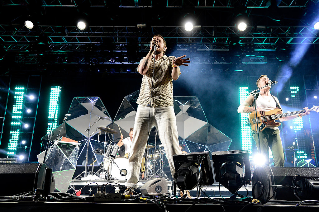 Chris Keating and Ira Wolf Tuton from Yeasayer took center stage on Saturday night.