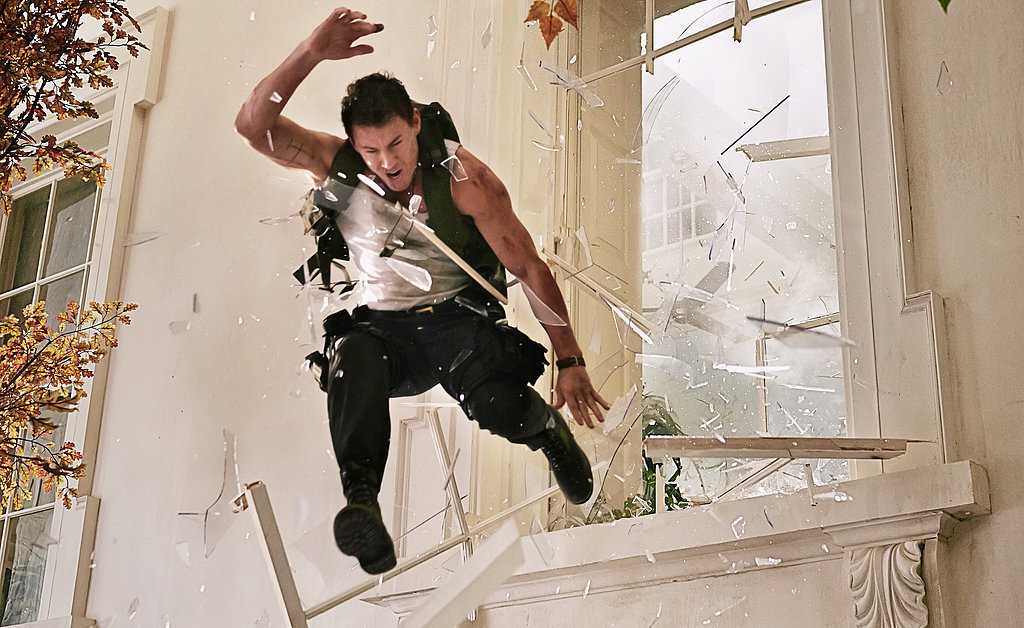 Only Channing Tatum looks this sexy while also jumping out a window. Let's hope he's only on the second story.