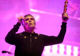 Ian Brown of the band The Stone Roses helped kick off the festival on day one.