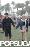 Diane Kruger and Joshua Jackson held hands at the musical celebration.