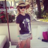 Diane Kruger was her stylish self during a Coachella party.  Source: Instagram user popsugar