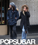 Sienna Miller held onto Tom Sturridge for a couple's stroll in NYC.