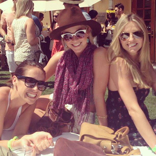 Julianne Hough hung out with friends on the grounds before the Neon Carnival party on Saturday.  Source: Instagram user juleshough