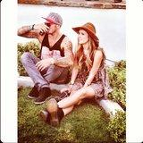 Audrina Patridge and longtime boyfriend Corey Bohan people-watched on the Coachella grounds.  Source: Instagram user audrinapatridge