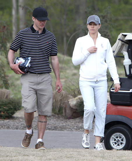 Justin Timberlake and Jessica Biel played a round of golf at the Mirimichi Golf Course this weekend.