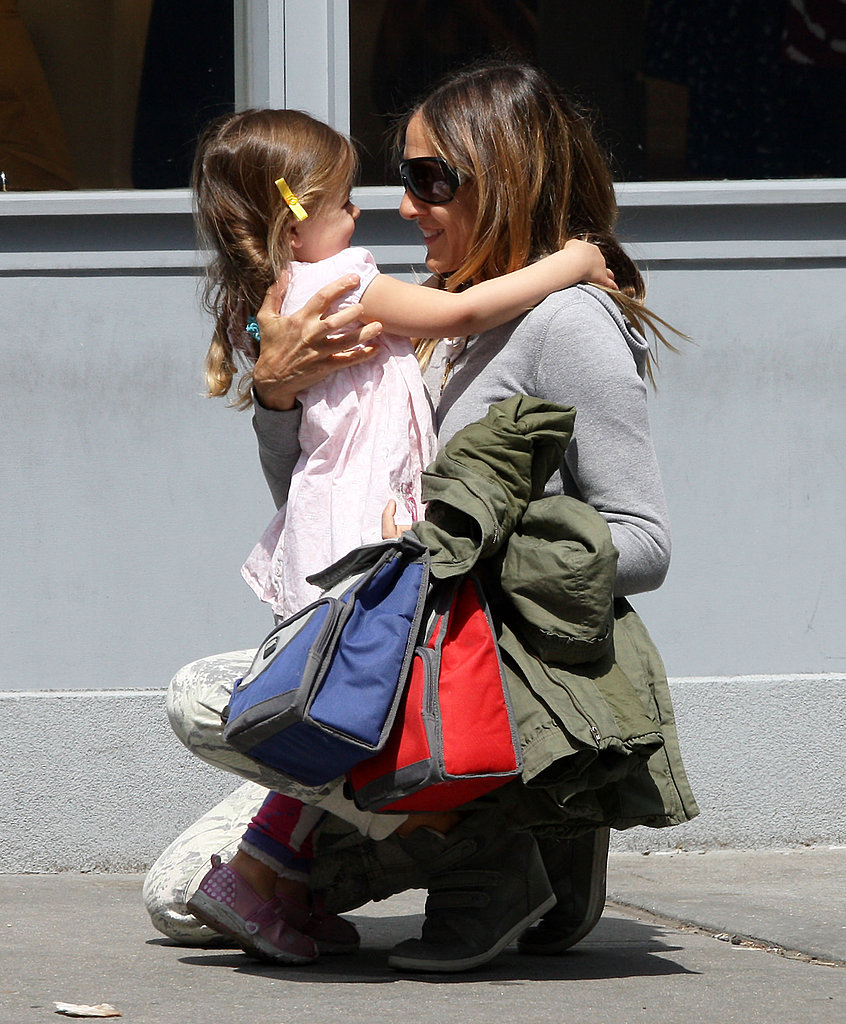 Sarah Jessica Parker hugged her daughter Tabitha.