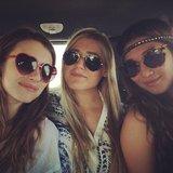 Emma Roberts was en route to Coachella with her girlfriends on Friday. Source: Instgram user emmaroberts6