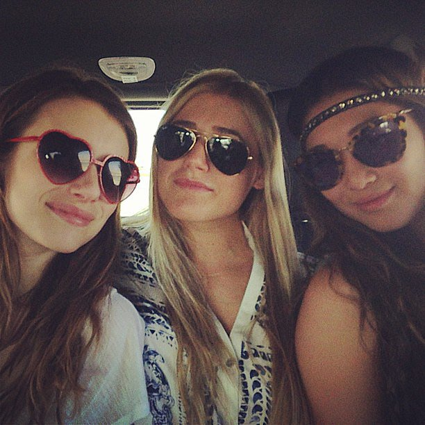 Emma Roberts was en route to Coachella with her girlfriends on Friday. Source: Instgram user emmaroberts6