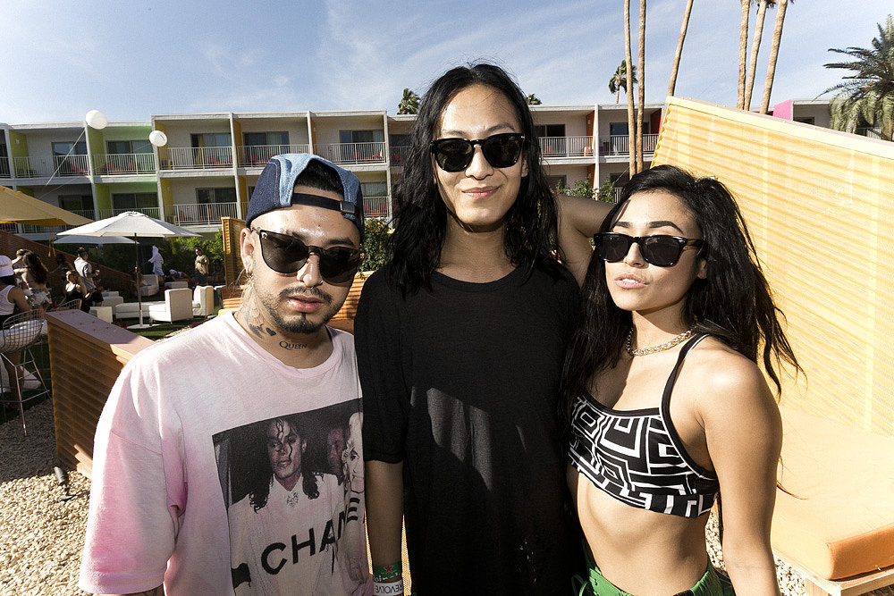 Designer Alexander Wang hung out with friends at The Saguaro Desert Weekender. Photo courtesy Rony's Photobooth