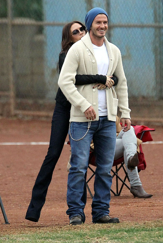 In November 2011, Victoria wrapped her arms around David at an LA soccer game.