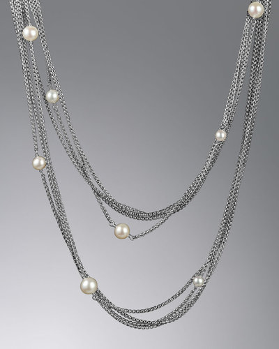 David Yurman Pearl Necklace, 36""