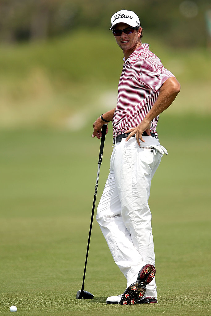 When He Does His Classic Golfer Pose