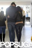 Gerard Piqué hugged Shakira before saying goodbye on Tuesday.