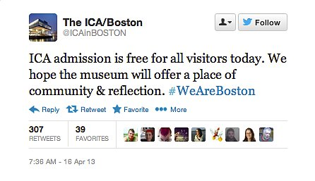 The Institute of Contemporary Art promised free admission for the people of Boston.