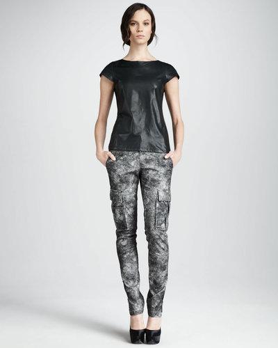 Alice + Olivia Printed Skinny Cargo Pants