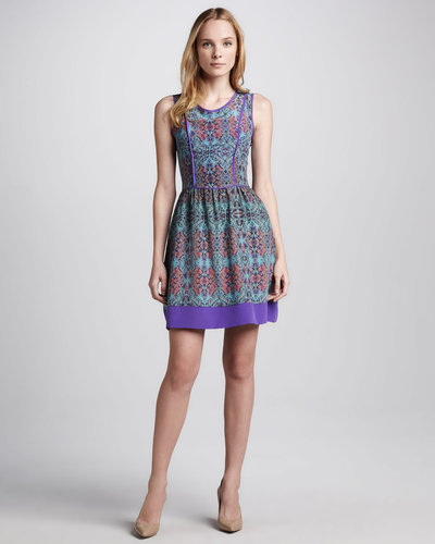 Charlie Jade Taryn Printed Silk Dress