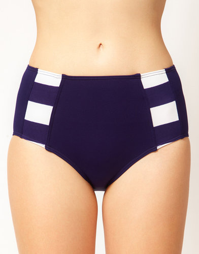Baku St Lucia Stripe High Waist Bikini Bottom