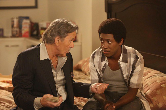Dennis Farina and Lamorne Morris on New Girl.