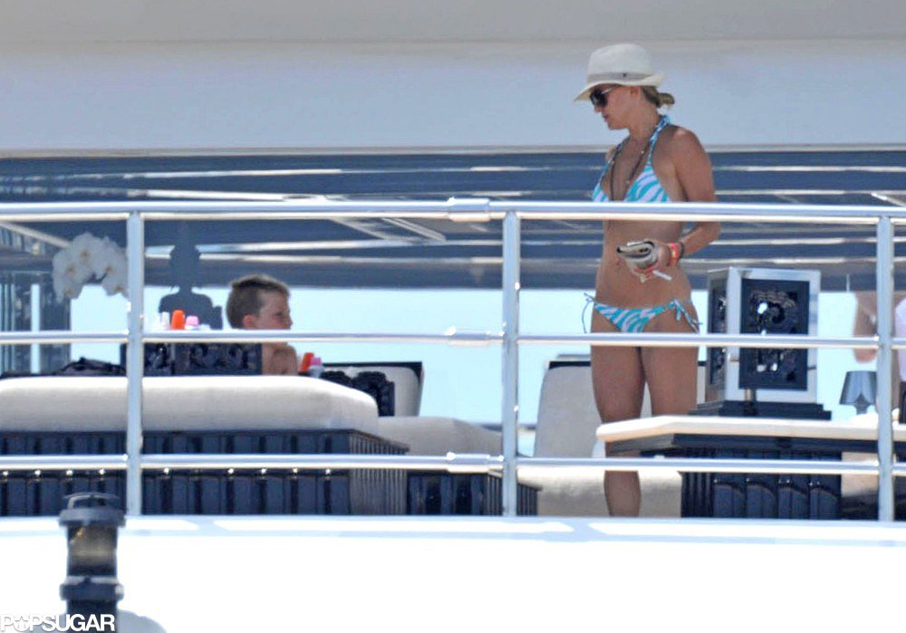 Kate Hudson spent time relaxing on Sir Philip Green's boat while vacationing in St. Tropez in June 2012.