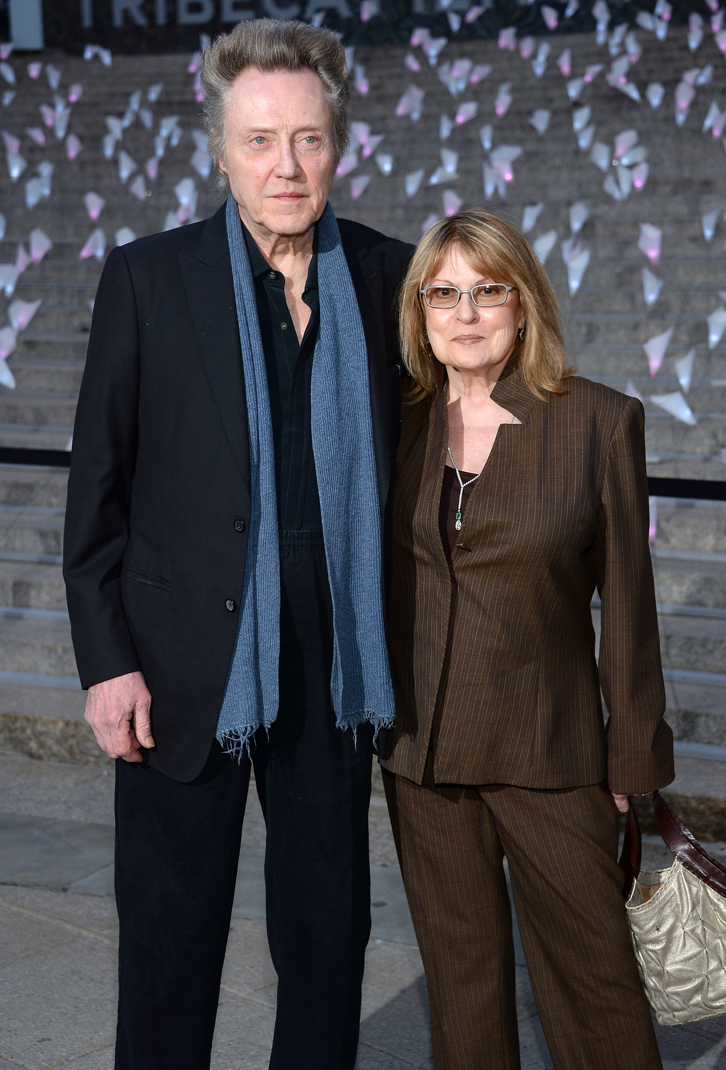 Christopher Walken attended the Vanity Fair party with his wife, Ge
