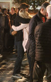 Emma Stone and Andrew Garfield hugged.
