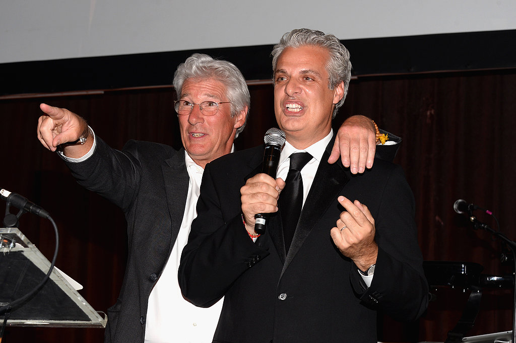 Richard Gere and chef Eric Ripert took the stage.