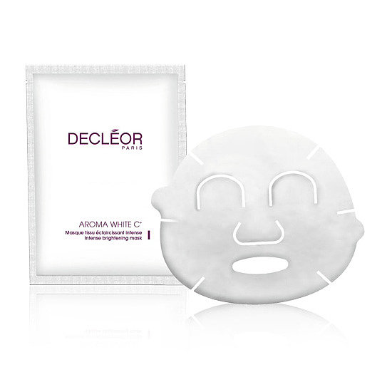 Best for: A complexion spotted with scars and dark spots Inspired by the brand's own professional treatments, the Decléor Aroma White C+ Brightening Sheet Mask ($52) delivers concentrated plant-based ingredients that brighten dark spots and inhibit future hyperpigmentation of the skin.