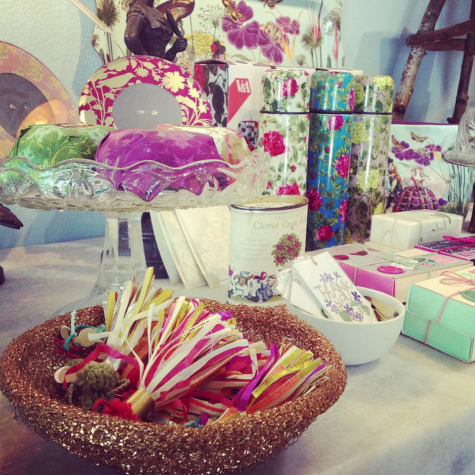 The colorful selection of hostess and housewarming gifts at Nest.