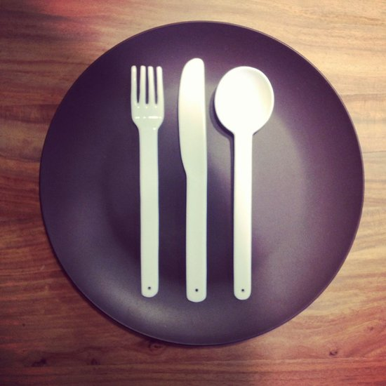 When it comes to a modern place setting, less is more at CB2. What do you think of this approach, sans napkin?