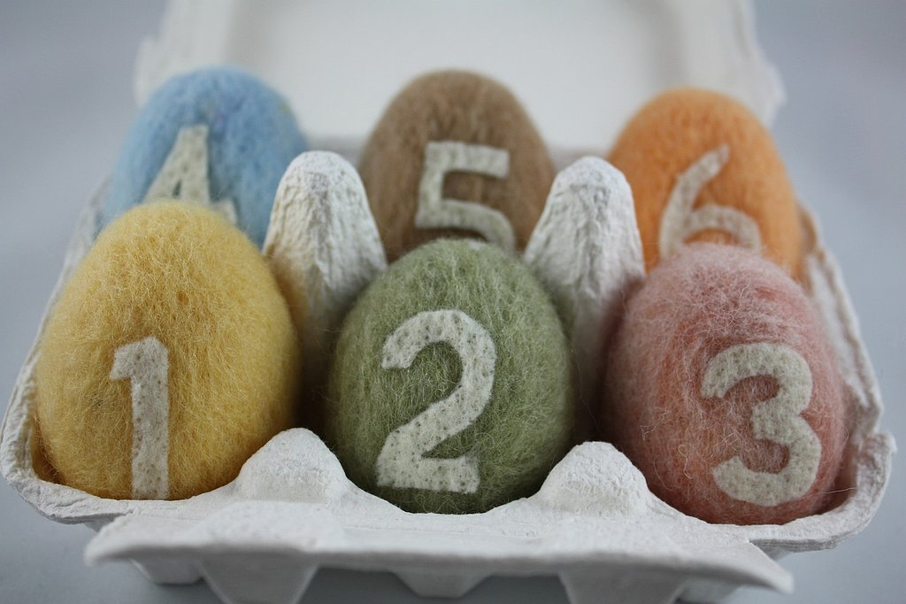 Honey Canada Needle Felted Eggs