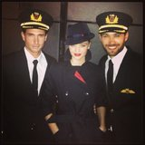 Miranda Kerr posed with her fellow models at a runway event for Qantas Airlines. Source: Instagram user mirandakerr