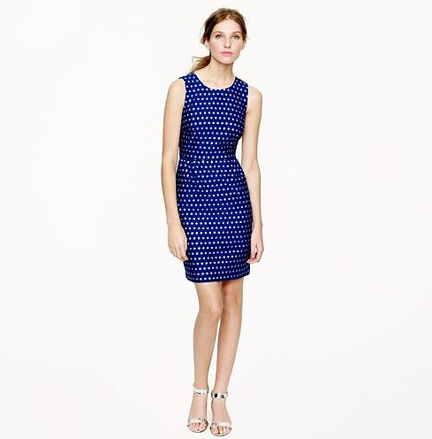 Just a touch of metallic ensures this J.Crew sparkle dot dress ($178) can safely make the transition from day to night.