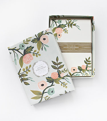 You can't go wrong with Rifle Paper Company stationary ($23).