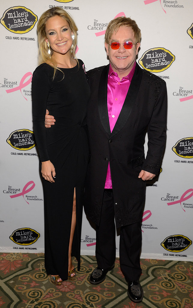 Kate Hudson chatted with Elton John.