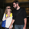 Emily Blunt and John Krasinski at LAX