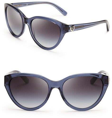 Tory Burch Logo Cat Eye Sunglasses
