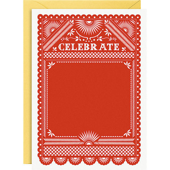 If a Facebook invite doesn't cut it, get guests in the spirit with these fiesta invitations ($6).